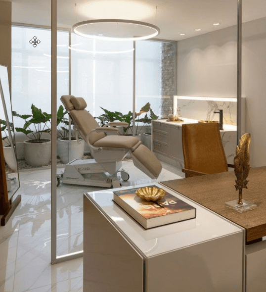 medical spa, room divisions,